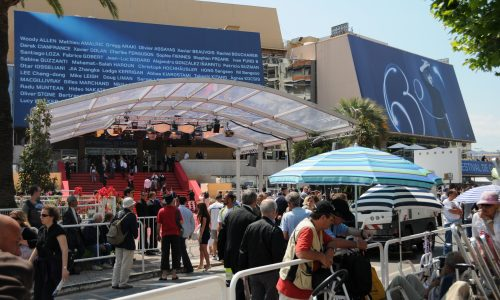 Preparing for another premiere, at Cannes 2010