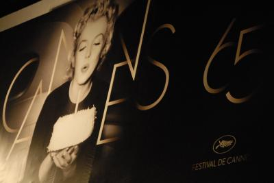 Marilyn Monroe adorns The Palais at Cannes 2012 Photographs © 2012 Jason Korsner