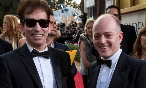 Arriving on the red carpet with HFPA member and Golden Globes voter Sam Asi (left).