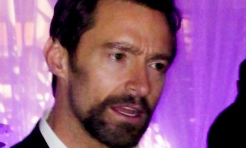 A phone just doesn't cut it as a camera when Hugh Jackman enters the room.