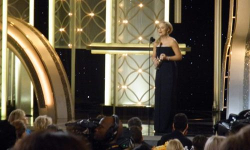 Amy Poehler hosting - hang on - no - accepting her Golden Globe
