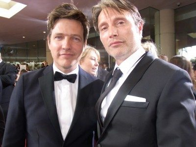 The director (left) and star of The Hunt, one of our best films of 2012