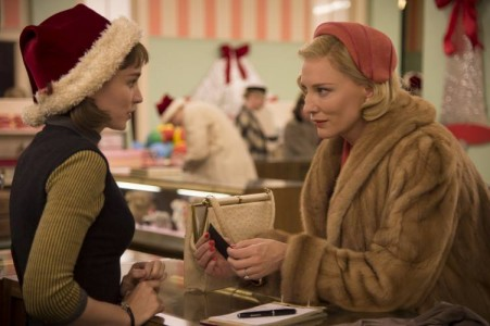 Cate Blanchett just can't resist Rooney Mara in a Santa hat