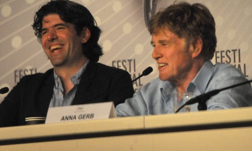 Robert Redford and All Is Lost director JC Chandor (left)