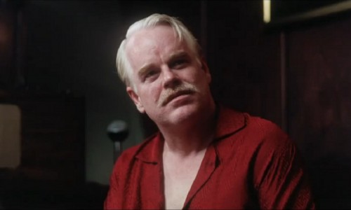 Philip Seymour Hoffman in The Master, which earned him his fourth Oscar nod