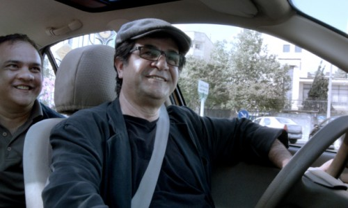 The dissident director Jafar Panahi plays a taxi driver in his Golden Bear winning Taxi