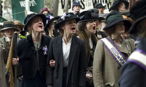 Anne-Marie Duff (left), Carey Mulligan (centre) and Helena Bonham Carter (right) are nominated for Suffragette