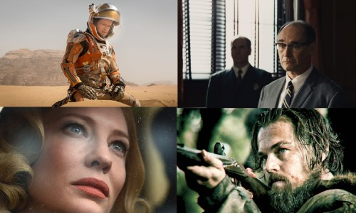 Matt Damon in The Martian, Mark Rylance in Bridge of Spies, Leonardo diCaprio in The Revenant, Cate Blanchett in Carol