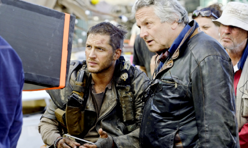 George Miller directing Tom Hardy in Mad Max: Fury Road, which premiered out of competition at Cannes last year. Photo: © Warner Bros