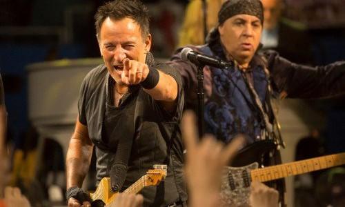 Springsteen in Los Angeles last month. Photo: Pam Springsteen
