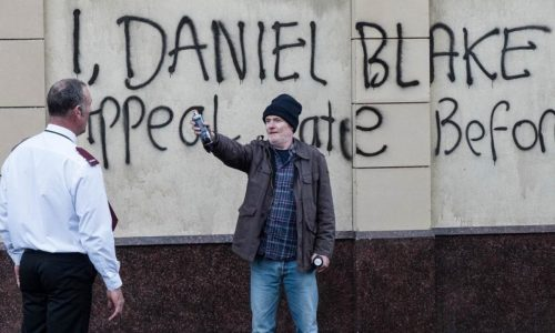 Dave Johns as an exasperated benefits claimant in I, Daniel Blake