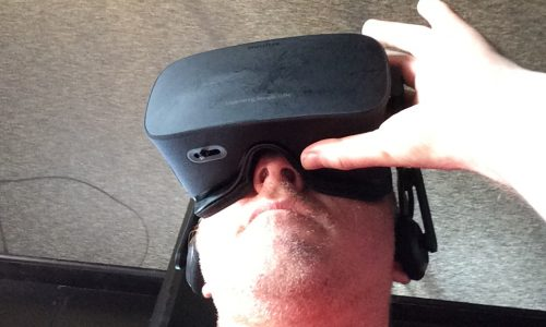 Watching Giant with HP's VR headset