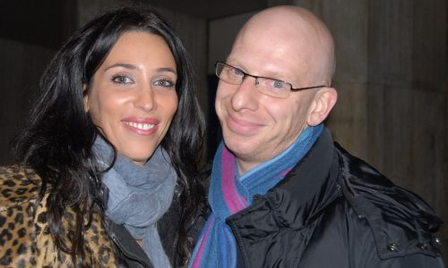 That's For Me! Writer/Director Claudia Solti with actor Steve Furst