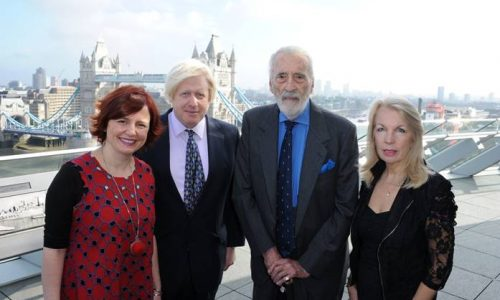 l-r: Clare Stewart (LFF director), Boris Johnson (Mayor of London), Sir Christopher Lee (BFI Fellowship honouree), Amanda Nevill (BFI Chief Executive)